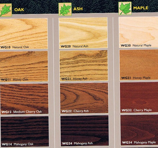 Oak Wood Stains ~ Plank oak wood restaurant tabletops