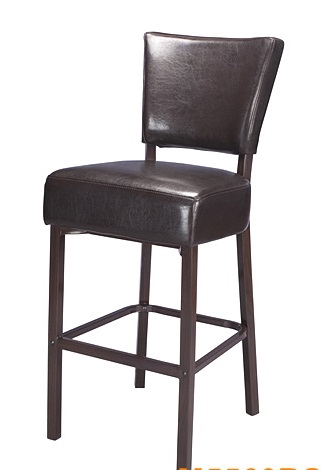 Magnificent 02 Upholstered Espresso Wood Grain Metal Bar Stool Gmtry Best Dining Table And Chair Ideas Images Gmtryco