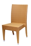 Wicker Outdoor Restaurant Dining Chair; Dark Honey, Espresso Weave