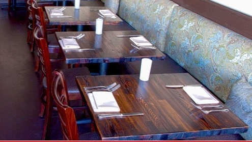 RusticDistressed AshWood Restaurant Custom Tabletops - Custom restaurant table tops