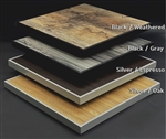Outdoor Laminate Tabletops with Rim; Weathered, Oak, Espresso HPL Tabletops