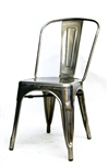 Restaurant Industrial Pewter Glossy Chair; Rust Free w/ Anodized Finish