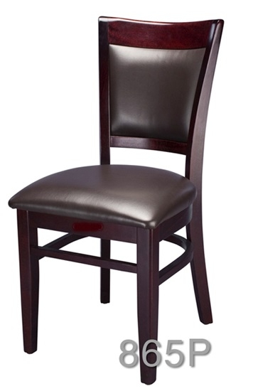 02 865P Modern Wood Upholstered Dining Chair