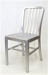 Navy Brushed Aluminum Chair