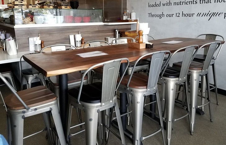 Live Edge Restaurant Wood Tabletops