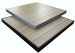 Outdoor Aluminum Gray-Brown Tabletops with Black/Grey Edge