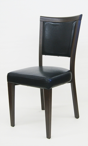 Upholstered Wood Metal Grain Dining Restaurant Chair