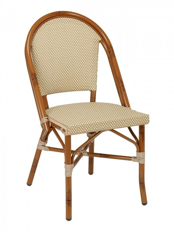 Bistro Rattan Chairs with Natural Weave