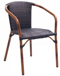 Safari Dark Bamboo Stacking Arm Chair