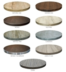 "Laminate Restaurant Dining Tabletops: In Stock 2"" thick.  Exciting Colorful Designs"