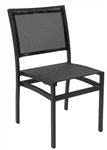 05 Batyline Stack-able Outdoor Restaurant Black Mesh Weave Chairs