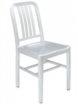 Navy Brushed Aluminum Silver 3 Prong Chair for
