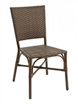 Wicker Stack able Bistro Dining Chair-Java Tone on Tone color seating