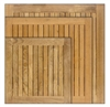 Teak Solid Wood Tabletops for Commercial Use