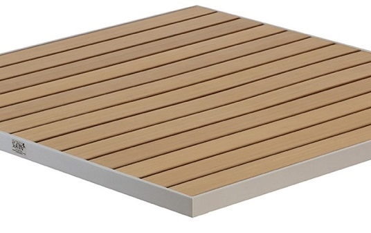 Teak Outdoor Slat Commercial Tabletops - Commercial wood table tops