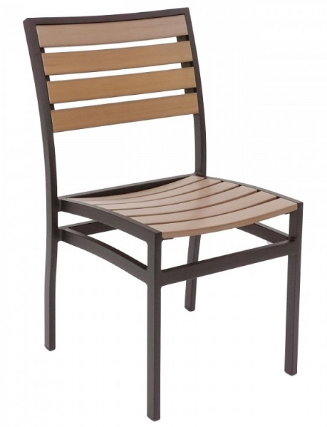 teak faux wood restaurant dining chairs al 5602