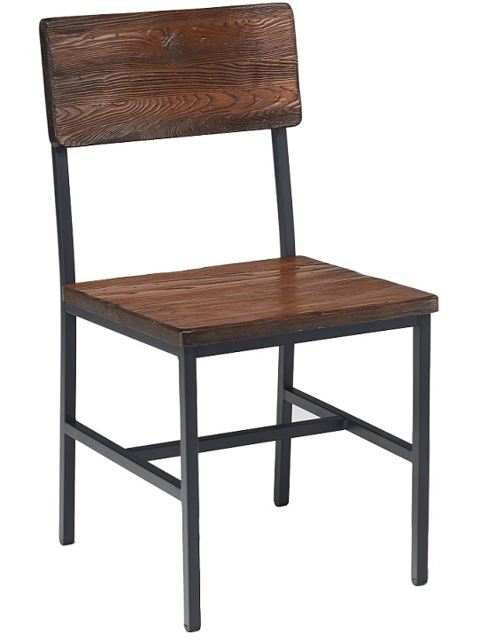 Reclaimed Wood Metal Chair