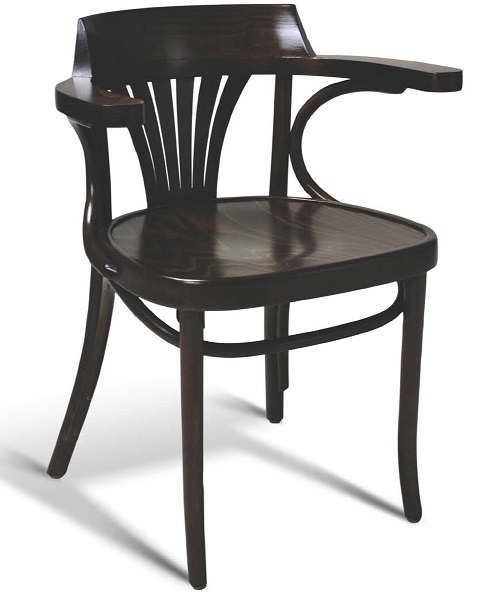 bentwood arm chair european beech fan back upholstered dining chair