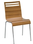 Bent Wood Zebra  Stacking Chair. Real Wood Veneer Seat & Back.