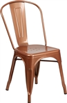 Industrial Copper Metal Dining Chair
