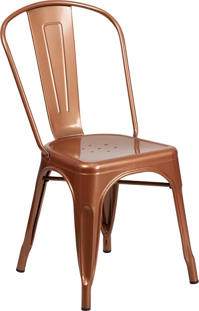 sc 1 st  Decor N More Wholesale Restaurant Furniture & Industrial Copper Metal dining Chair