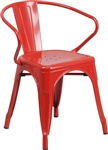 Industrial Red Metal All Weather Chairs