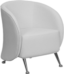 Lounge White Leather Nightclub Chair