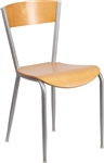 Natural Wood Metal Restaurant Chair