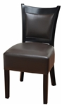 Black Stained Upholstered Restaurant Dining Chair
