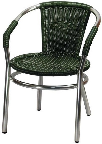Alternative Views  sc 1 st  Decor N More Wholesale Restaurant Furniture & All Weather Dark Green or Natural Wicker Weave Arm Chair with ...