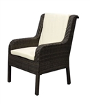 66 - Tahiti All Weather Espresso Weave Cushioned Arm Chair