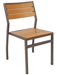 Teak Wood Small Ladder Back Chair; 3 Slat with Black Finish @ affordable price