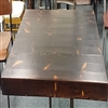 "Rustic Distressed Pine Wood Restaurant Table 2"" Thick"