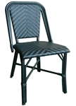 Midnight; All Black French Cafe Bistro Aluminum Chair