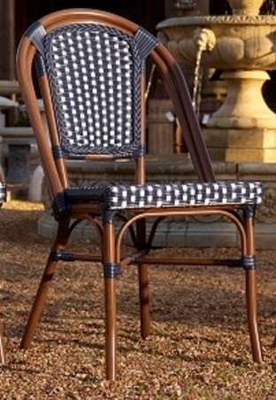 bistro outdoor furniture rattan stacking chairs