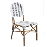 French Cafe Bistro Aluminum Chair- Navy Ivory