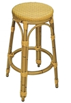 Backless Wicker Bar Stool