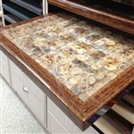 Epoxy Resin Restaurant Tabletops: Coconut Slice Epoxy Resin Design with Walnut Wood Edge