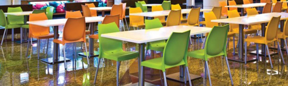 Plastic Resin Cafe Bistro Outdoor Seating Wholesale Cafe