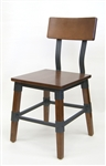 Industrial Wood Metal Restaurant Chair