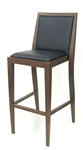 Wood Grain Metal Bar Stools