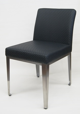 02 Upholstered Modern Steel Dining Chair