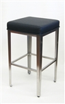 Upholstered Modern Industrial Back Less Bar Stool