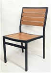 Teak Faux Chair Slats with Black Frame