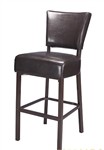 Metal Upholstered Bar Stool: Espresso