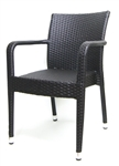Outdoor Wicker Bistro Arm Dining Chairs