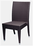 Wicker Restaurant Honey/Coffee Dining Chair