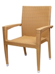 Coffee / Honey Wicker Arm Chair