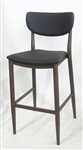 Bar Stool: Modern Wood Grain Upholstered
