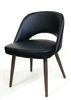 Modern Upholstered Metal Black Dining Chair
